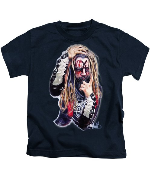 Rob Zombie Kids T-Shirt by Melanie D