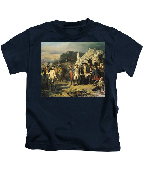Siege Of Yorktown Kids T-Shirt by Louis Charles Auguste  Couder