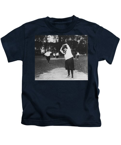 Softball Game Kids T-Shirt by Granger