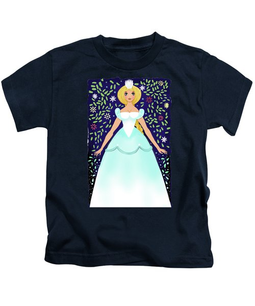 The Winter Fairy Brings The First Frost  Kids T-Shirt by Little Bunny Sunshine