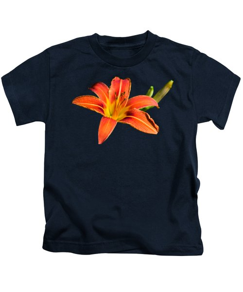 Tiger Lily Kids T-Shirt by Christina Rollo