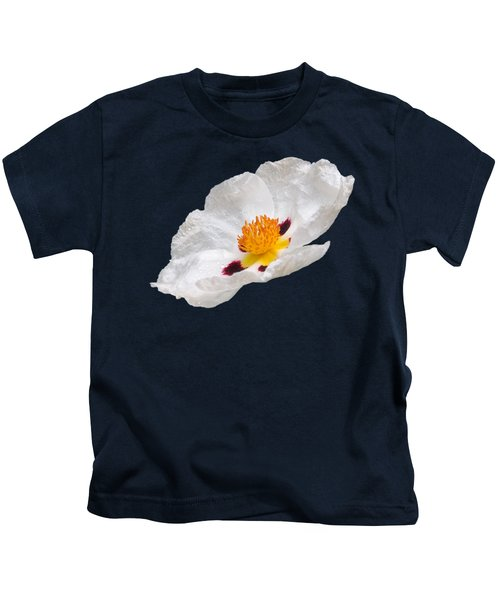 White Cistus Kids T-Shirt by Gill Billington