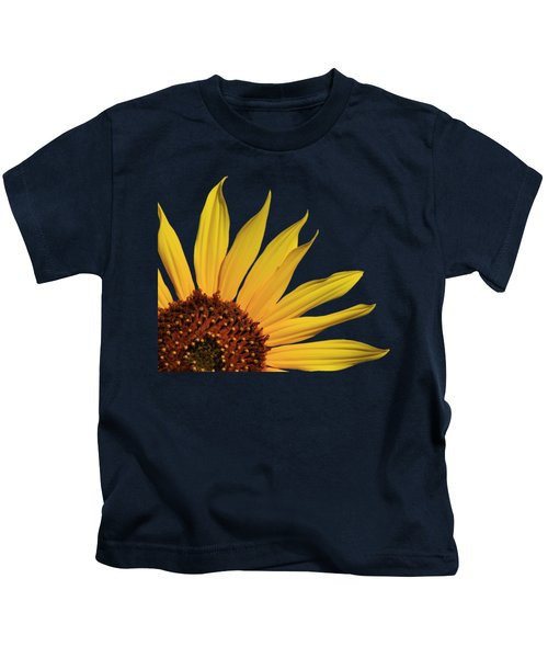 Wild Sunflower Kids T-Shirt by Shane Bechler