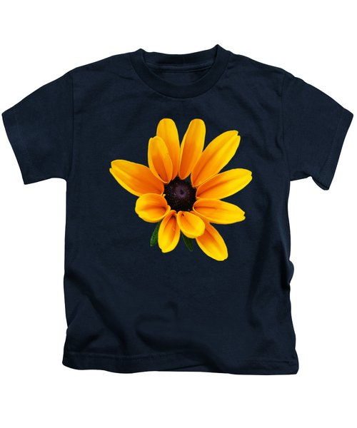 Yellow Flower Black-eyed Susan Kids T-Shirt by Christina Rollo