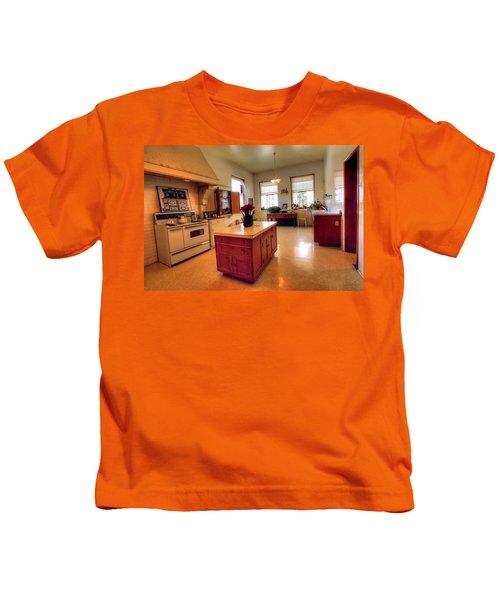 Glensheen Mansion Duluth Kids T-Shirt by Amanda Stadther