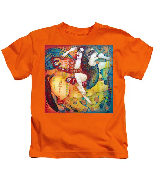 Centaur In Love Kids T-Shirt by Albena Vatcheva