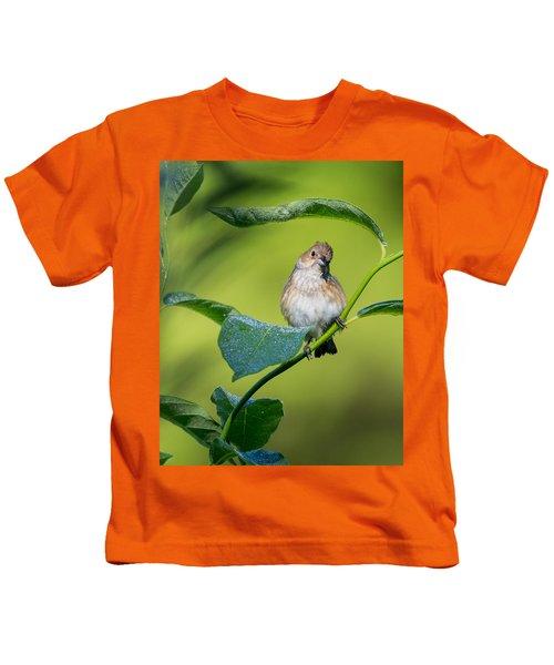 Indigo Bunting Female Kids T-Shirt by Bill Wakeley