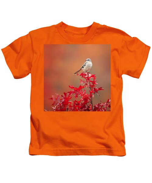 Mockingbird Autumn Square Kids T-Shirt by Bill Wakeley