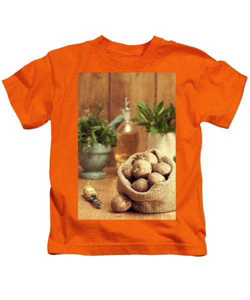 Potatoes Kids T-Shirt by Amanda Elwell
