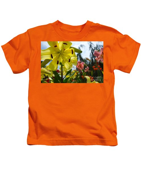 Yellow Whopper Lily 1 Kids T-Shirt by Jacqueline Athmann
