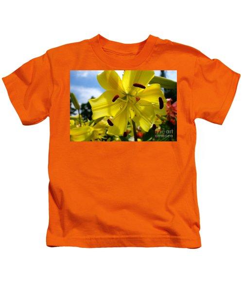 Yellow Whopper Lily 2 Kids T-Shirt by Jacqueline Athmann
