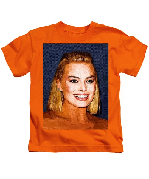 Margot Robbie Art Kids T-Shirt by Best Actors