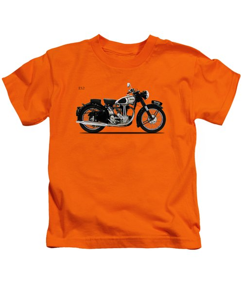 Norton Es2 1947 Kids T-Shirt by Mark Rogan