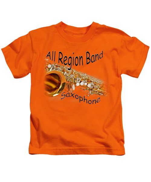 All Region Band Saxophone Kids T-Shirt by M K  Miller