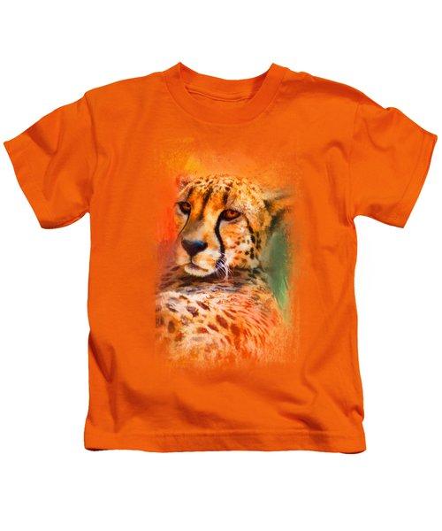 Colorful Expressions Cheetah Kids T-Shirt by Jai Johnson