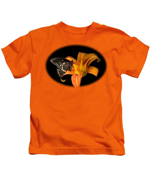 Black Beauty Butterfly Kids T-Shirt by Christina Rollo