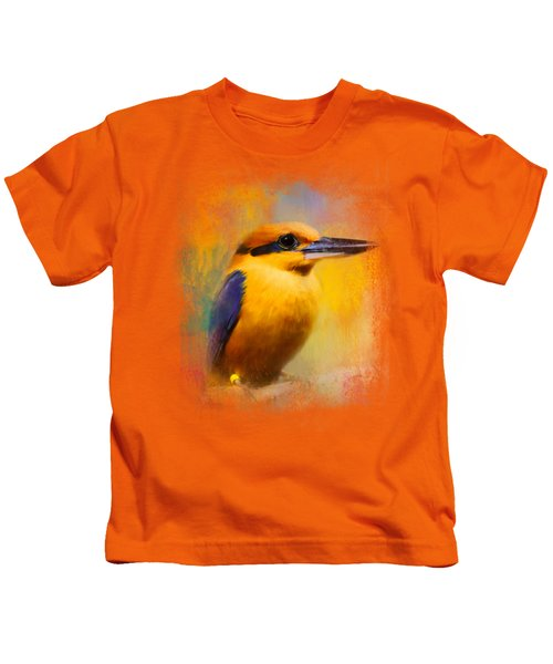 Colorful Expressions Kingfisher Kids T-Shirt by Jai Johnson