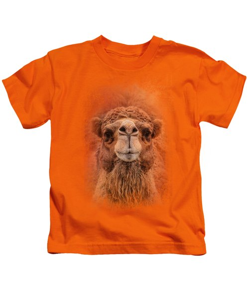 Dromedary Camel Kids T-Shirt by Jai Johnson