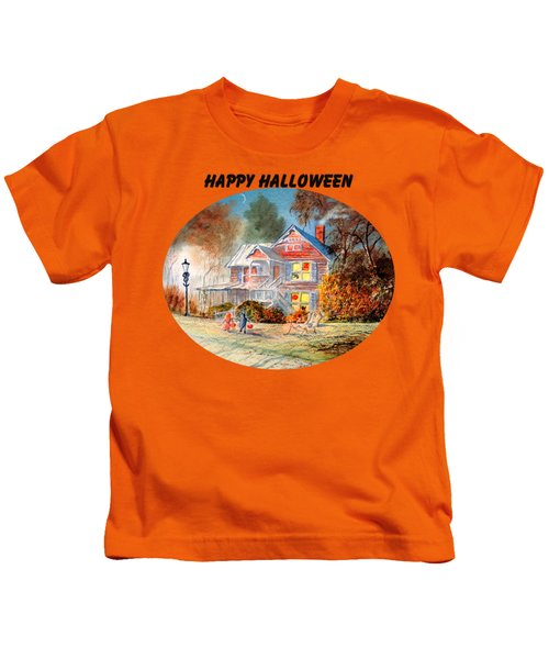 Happy Halloween Kids T-Shirt by Bill Holkham