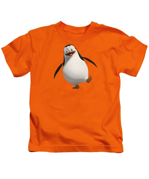 Happy Penguin Kids T-Shirt by T Shirts R Us -