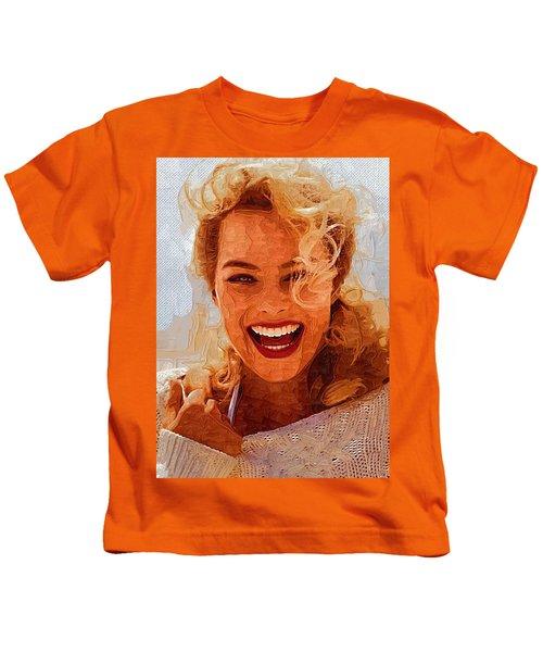 Hollywood Star Margot Robbie Kids T-Shirt by Best Actors