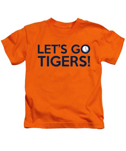 Let's Go Tigers Kids T-Shirt by Florian Rodarte