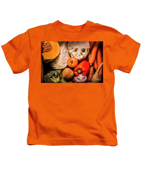 Mixed Vegetable Produce Pack Kids T-Shirt by Jorgo Photography - Wall Art Gallery