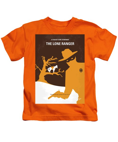 No202 My The Lone Ranger Minimal Movie Poster Kids T-Shirt by Chungkong Art