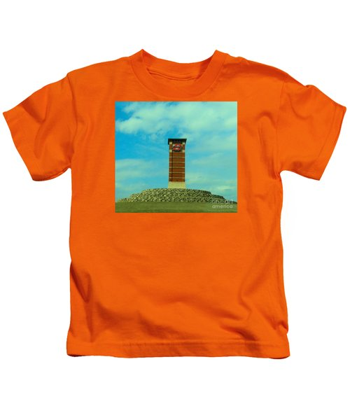 Oklahoma State University Gateway To Osu Tulsa Campus Kids T-Shirt by Janette Boyd