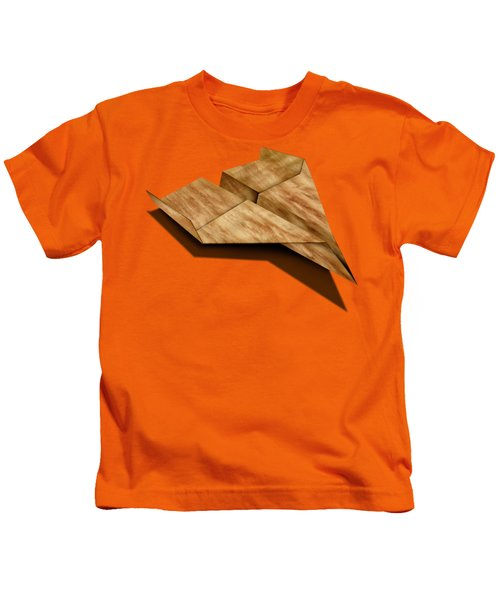 Paper Airplanes Of Wood 5 Kids T-Shirt by YoPedro