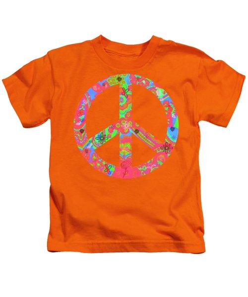 Peace Kids T-Shirt by Linda Lees