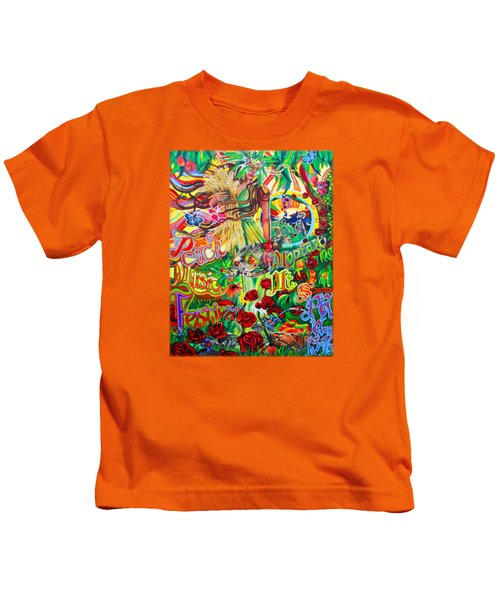 Peach Music Festival 2015 Kids T-Shirt by Kevin J Cooper Artwork