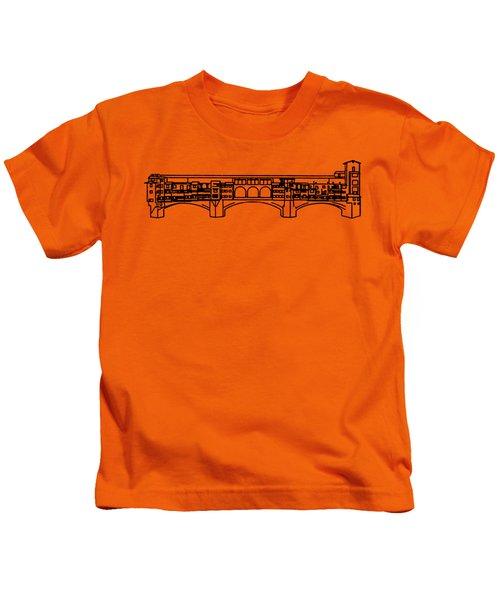 Ponte Vecchio Florence Tee Kids T-Shirt by Edward Fielding