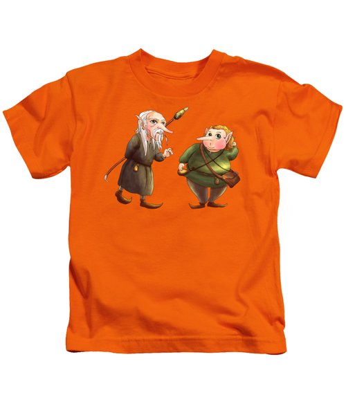 Rupert And Shuman Kids T-Shirt by Reynold Jay