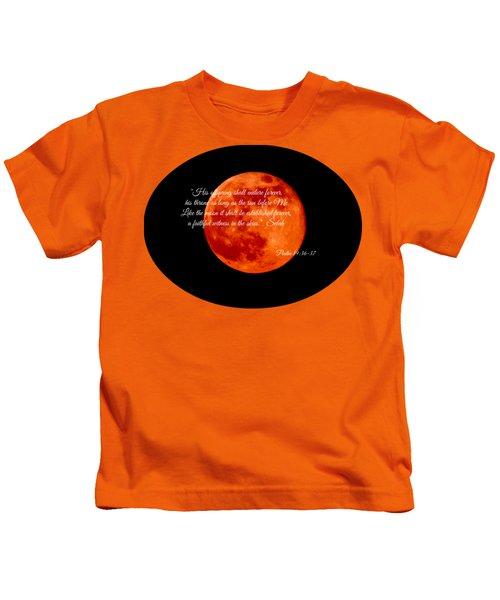 Strawberry Moon Kids T-Shirt by Anita Faye
