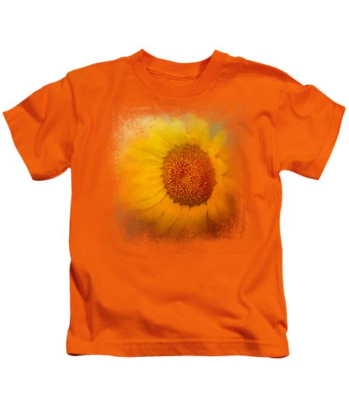 Sunflower Surprise Kids T-Shirt by Jai Johnson