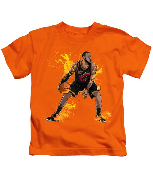 The King James Kids T-Shirt by Akyanyme