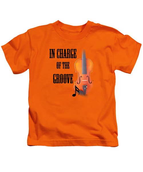 Violin Violas In Charge Of The Groove 5540.02 Kids T-Shirt by M K  Miller