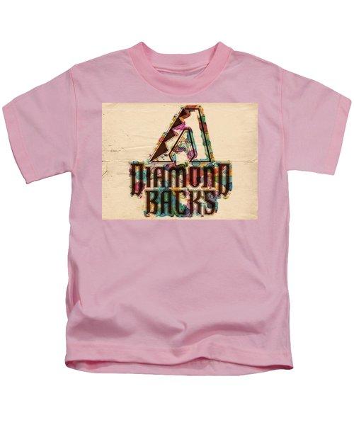 Arizona Diamondbacks Poster Vintage Kids T-Shirt by Florian Rodarte
