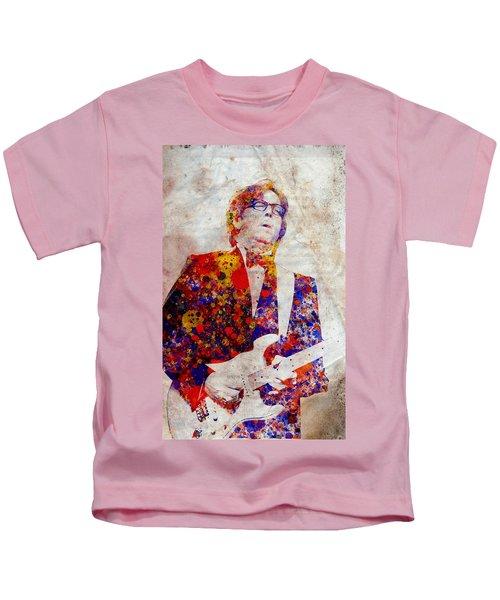 Eric Claptond Kids T-Shirt by Bekim Art