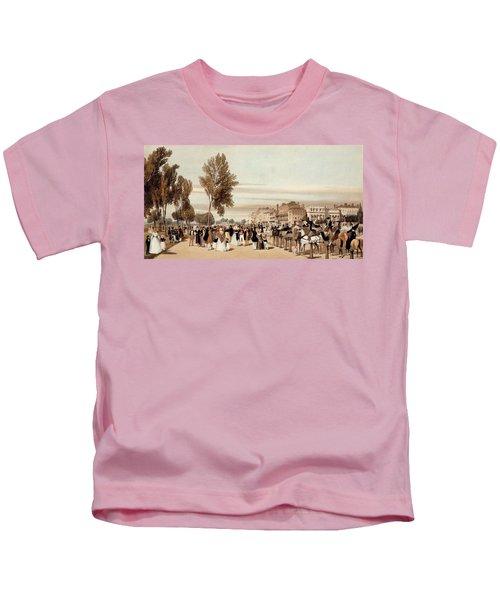 Hyde Park, Towards The Grosvenor Gate Kids T-Shirt by Thomas Shotter Boys