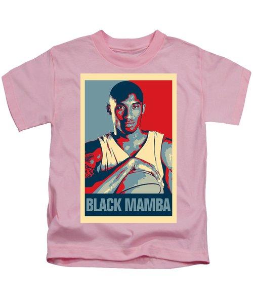 Kobe Bryant Kids T-Shirt by Taylan Soyturk
