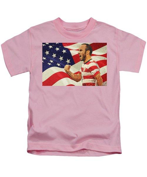 Landon Donovan Kids T-Shirt by Taylan Soyturk