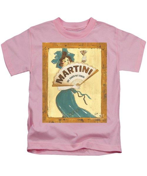 Martini Dry Kids T-Shirt by Debbie DeWitt