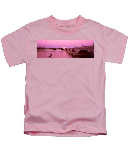 Memorial Bridge, Washington Dc Kids T-Shirt by Panoramic Images