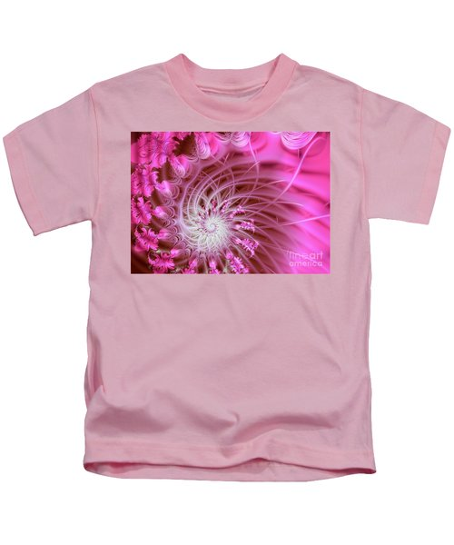 Pink Kids T-Shirt by Lena Auxier