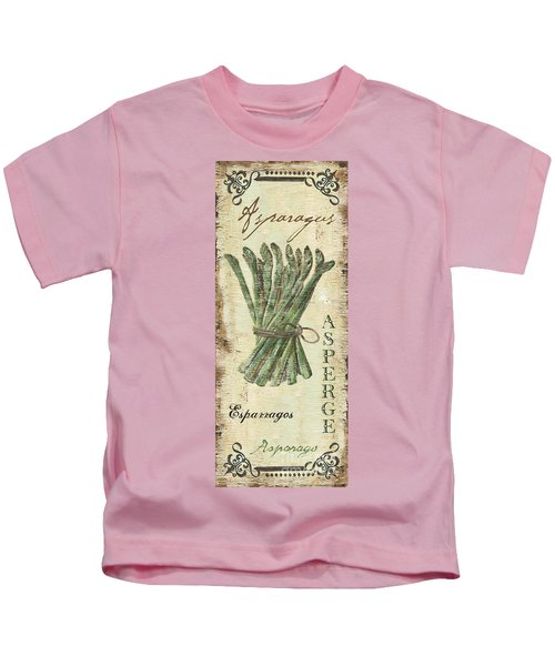 Vintage Vegetables 1 Kids T-Shirt by Debbie DeWitt