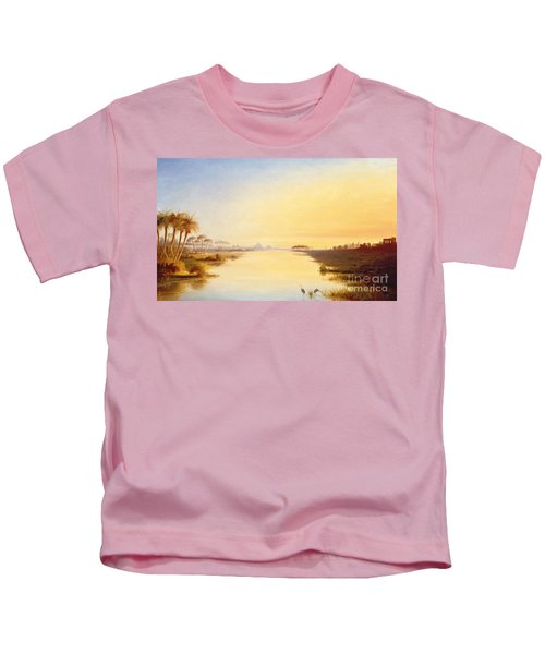 Egyptian Oasis Kids T-Shirt by John Williams