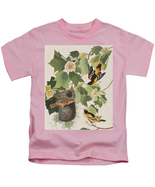 Baltimore Oriole Kids T-Shirt by John James Audubon