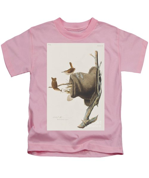 House Wren Kids T-Shirt by John James Audubon
